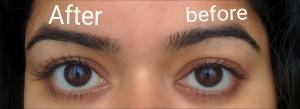 Before and After effect of mascara